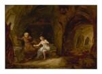 LÉONARD DEFRANCE | THE TEMPTATION OF ST. ANTHONY IN A ROCKY CAVERN