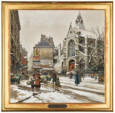 View 2. Thumbnail of Lot 67. EUGÈNE GALIEN-LALOUE | Eglise Saint Medard, Paris.
