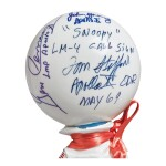 [APOLLO 10]. SNOOPY ASTRONAUT DOLL, MASCOT OF THE APOLLO 10 LM CREW, SIGNED AND INSCRIBED BY THE CREW