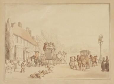 THOMAS ROWLANDSON   The White Lion Inn, Ponders End, Middlesex