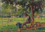 Éragny, Rodo Pissarro dans le jardin de son père