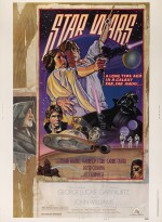 STAR WARS, US STYLE D POSTER, DREW STRUZAN AND CHARLES WHITE III, 1978