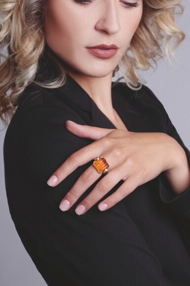 CITRINE AND DIAMOND RING, MICHELE DELLA VALLE