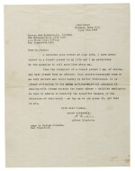 "EINSTEIN, ALBERT | Typed letter signed (""A. Einstein""), to Ensign Guy H. Raner Jr., explaining the nature of his personal atheism and belief in God"
