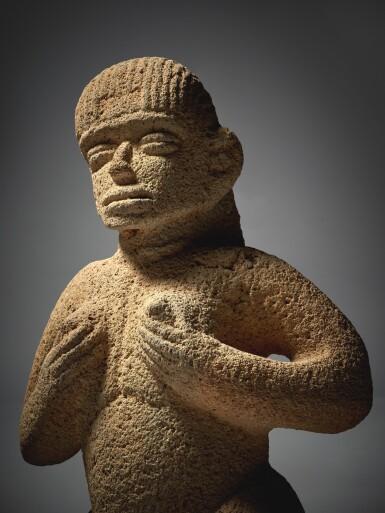 View 3. Thumbnail of Lot 94. Costa Rican Stone Female Figure, Atlantic Watershed Region Period VI, Circa AD 1000-1500.