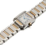 CARTIER   TANK FRANCAISE REF 2384, A LADY'S STAINLESS STEEL AND YELLOW GOLD WRISTWATCH WITH BRACELET CIRCA 2005