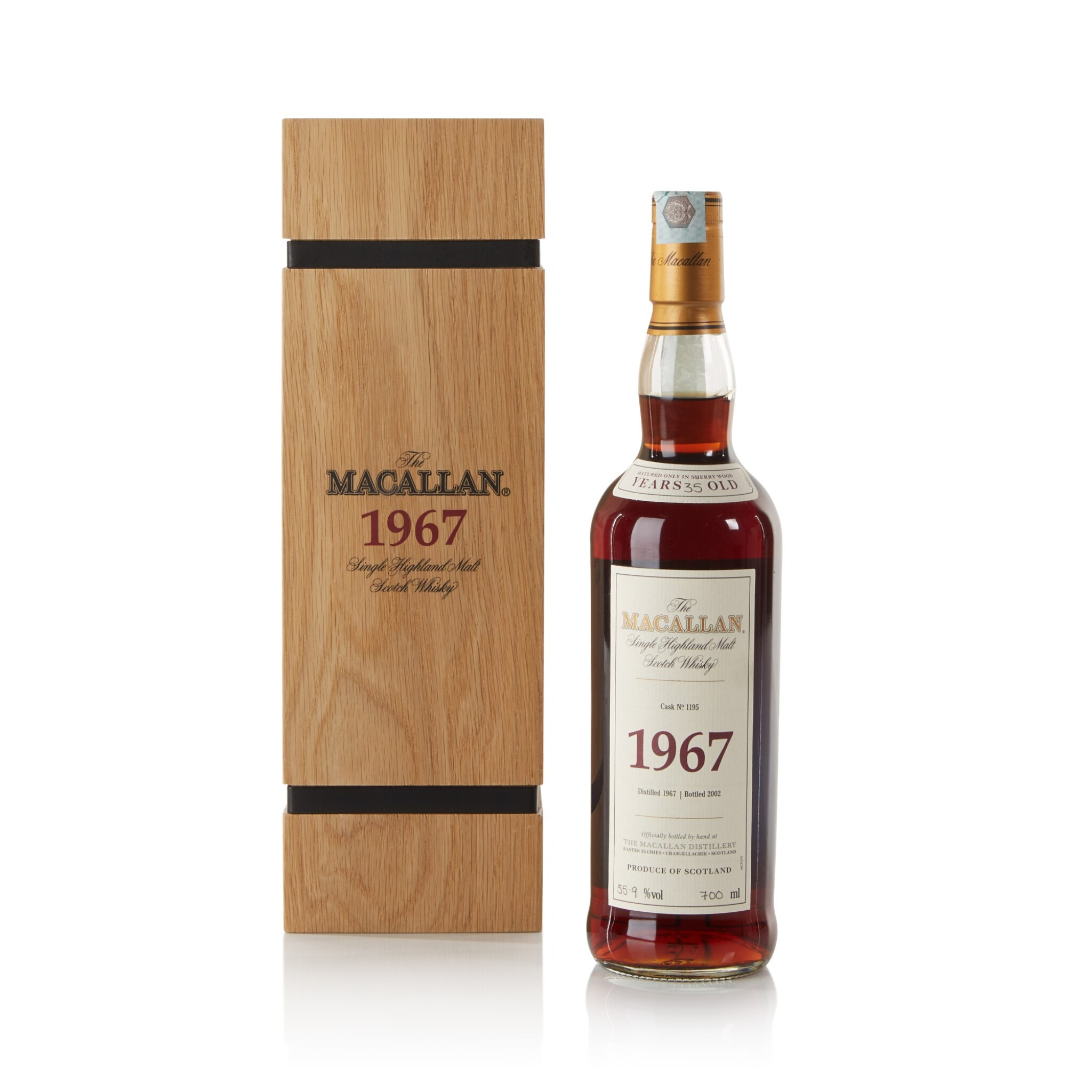 View full screen - View 1 of Lot 22. The Macallan Fine & Rare 35 Year Old 55.9 abv 1967 .