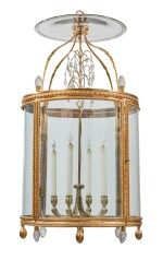 A LOUIS XVI GILT BRONZE FOUR-LIGHT LANTERN, CIRCA 1790