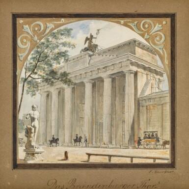 View 1. Thumbnail of Lot 55. Das Brandenburger Tor (The Brandenburg Gate).