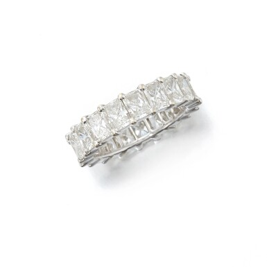 View 1. Thumbnail of Lot 146. Diamond eternity ring (Riviera in diamanti).