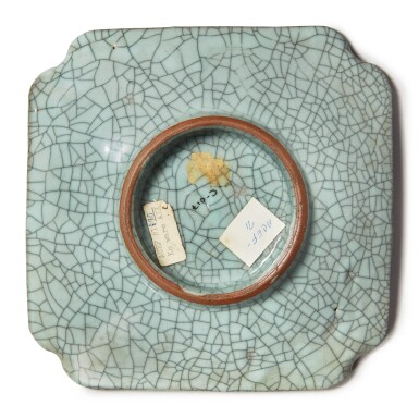 View 2. Thumbnail of Lot 1129. A GE-TYPE SQUARE DISH , 19TH / 20TH CENTURY.