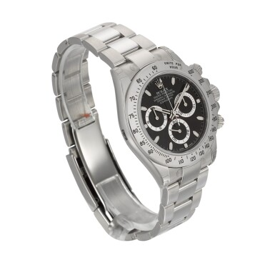 View 3. Thumbnail of Lot 3. Daytona, Ref. 116520 Stainless Steel Chronograph Wristwatch With Bracelet Circa 2010.