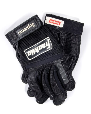 SUPREME FRANKLIN BATTING GLOVES BLACK