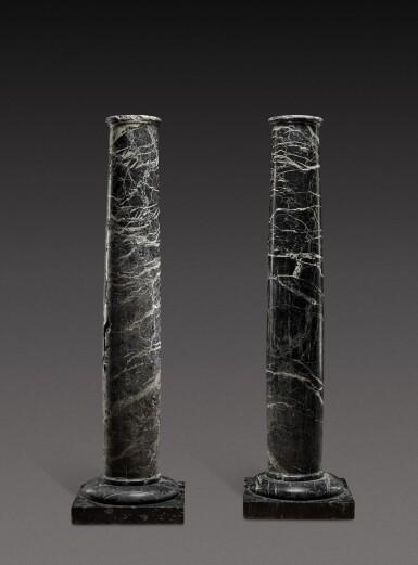 View 1. Thumbnail of Lot 155. Italian, 19th century | Pair of Columns.