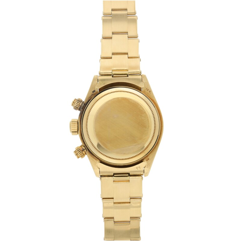 Daytona, Reference 6265  A Yellow Gold Chronograph Wristwatch with Registers and Bracelet, circa 1986