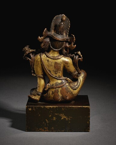 View 3. Thumbnail of Lot 321. A GILT COPPER FIGURE OF INDRA,  NEPAL, 15TH CENTURY.