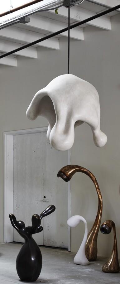 View 2. Thumbnail of Lot 14. Fertility Form illuminated sculpture.