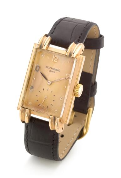 View 2. Thumbnail of Lot 8108. PATEK PHILIPPE | REF 1480, A PINK GOLD WRISTWATCH, MADE IN 1947.