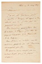 [Chopin, Fréderic]--Letter by Titus Woyciechowski about the publication of Chopin's Polish Songs op.74, 1857