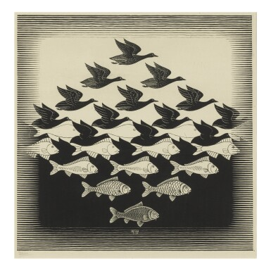 View 1. Thumbnail of Lot 81. M. C. ESCHER | SKY AND WATER I (B./K./L./W. 306).