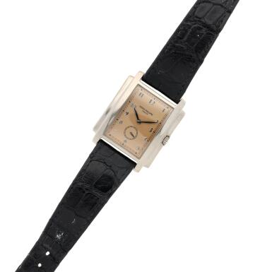 View 6. Thumbnail of Lot 141. Reference 5024 Gondolo  A white gold rectangular wristwatch, Circa 2001 .