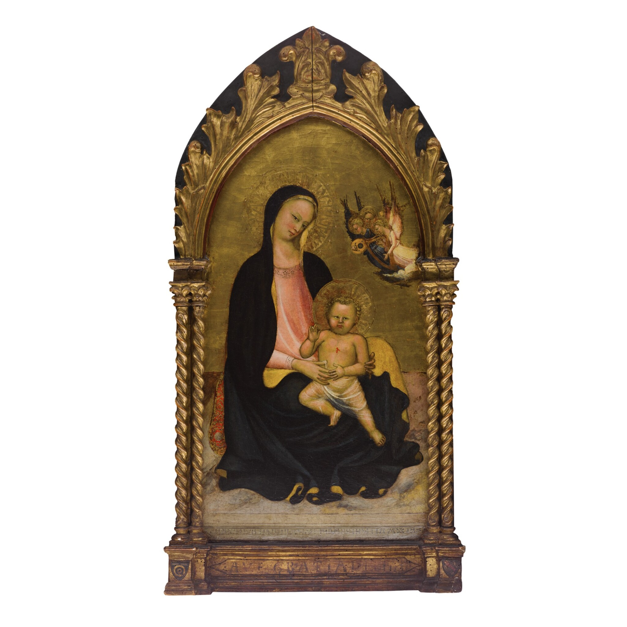 Madonna and Child with musician angels