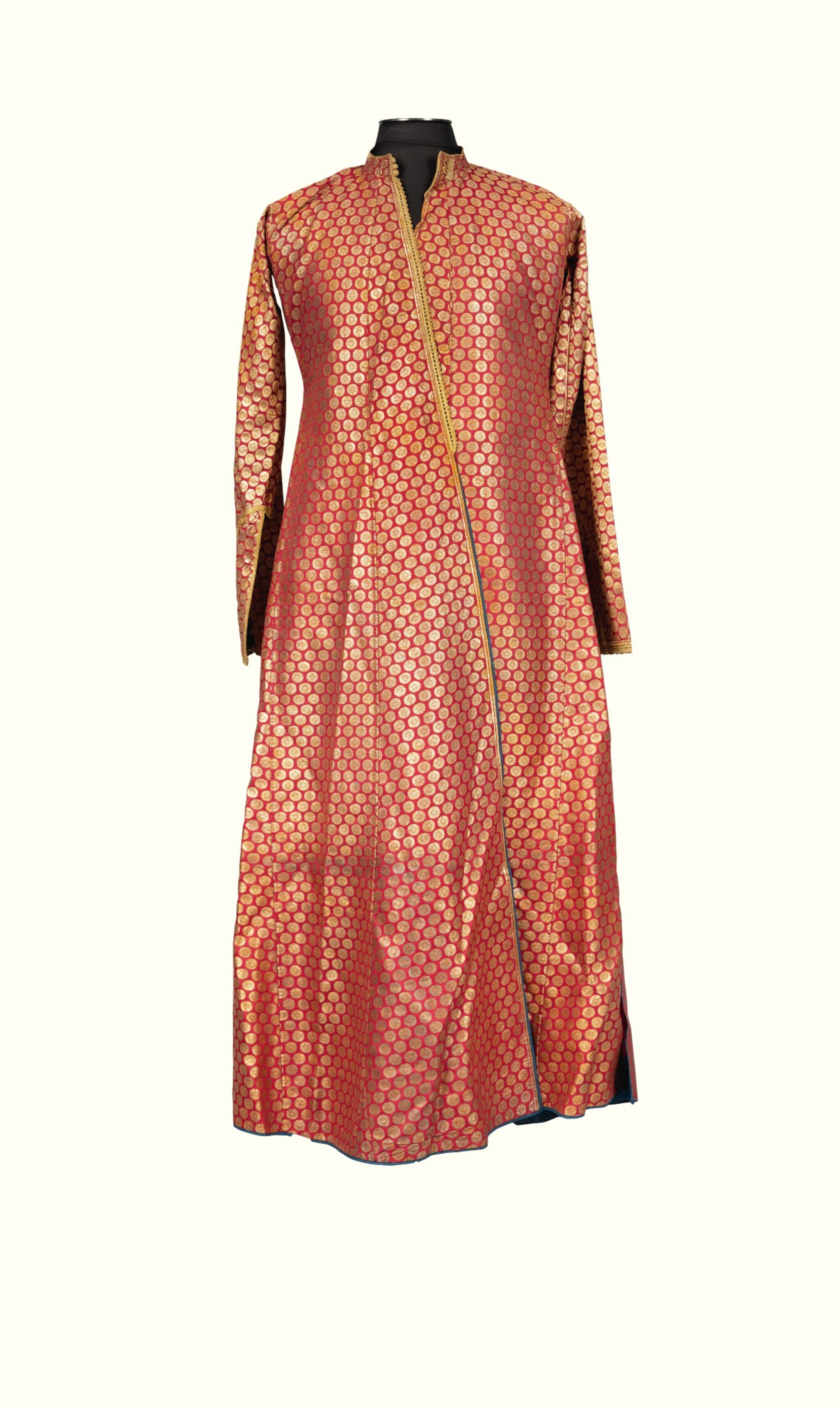 View full screen - View 1 of Lot 5. A SUMPTUOUS WEDDING ROBE FOR A GROOM, BOMBAY, 1853.