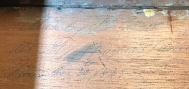 View 3. Thumbnail of Lot 106. A GEORGE IV BURR OAK, ROSEWOOD AND MARQUETRY CENTRE TABLE BY JOSEPH AND SAMUEL HARPER.