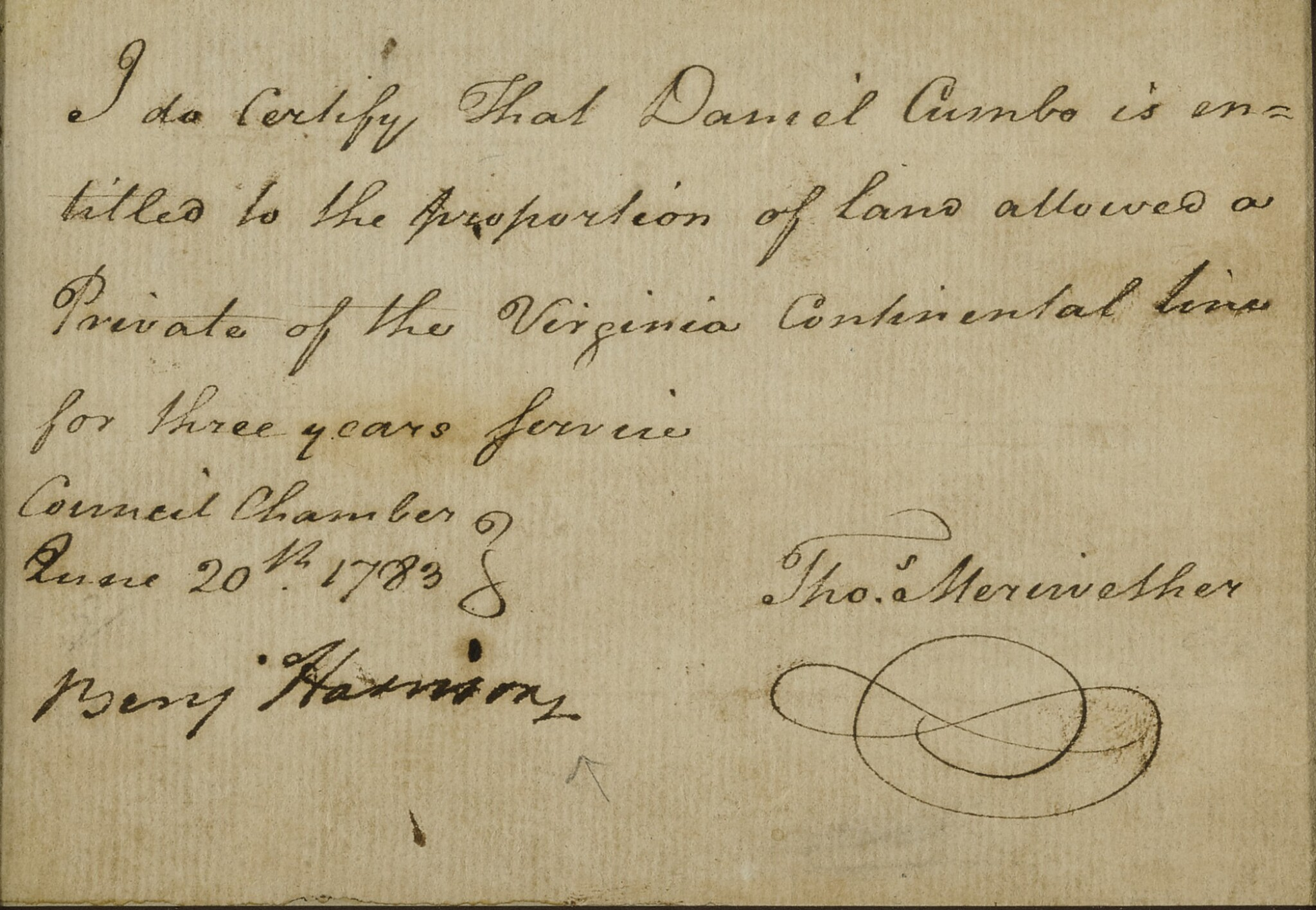 """View full screen - View 1 of Lot 53. HARRISON, BENJAMIN 