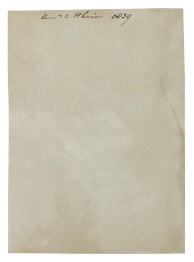 """View 2. Thumbnail of Lot 89. TAYLOR, ALFRED SWAINE   Early """"photogenic drawing"""" photograph of a fern, dated on the verso by Taylor, 2 December 1839."""