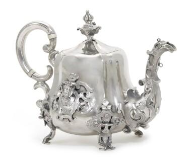 View 2. Thumbnail of Lot 217. A silver teapot, Sazikov, Moscow, circa 1850.