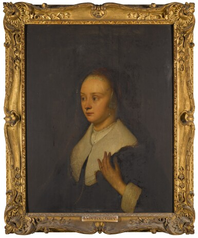 View 1. Thumbnail of Lot 12. MANNER OF REMBRANDT | Portrait of a lady, half-length.