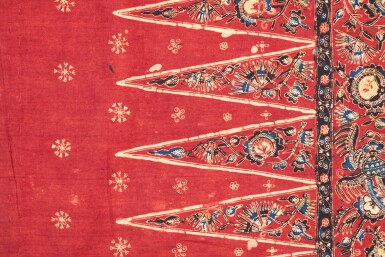 View 6. Thumbnail of Lot 25. Deux sarongs, nord de Java, Indonésie, 19e et début du 20e siècle | Two hip wrappers sarong, Northern Java, Indonesia, 19th century and early 20th century.