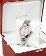 CARTIER | PASHA, STAINLESS STEEL BRACELET WATCH WITH DATE [PASHA, MONTRE BRACELET EN ACIER AVEC DATE]