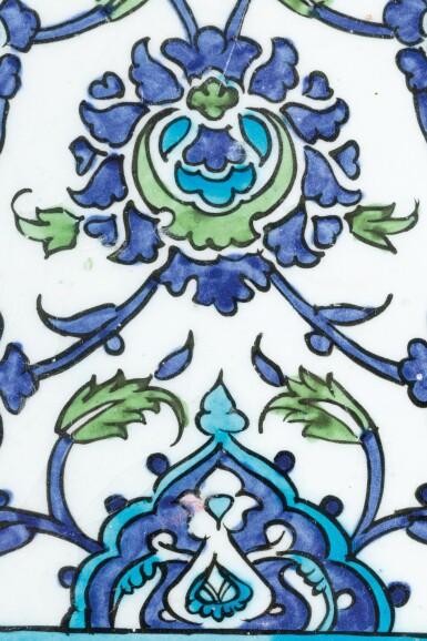 View 8. Thumbnail of Lot 129. Ten Pottery Tile Fragments, Mamluk, Ottoman, Timurid and European, 15th-18th centuries.
