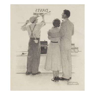 NORMAN ROCKWELL | SEEING YOUR NAME IN LIGHTS