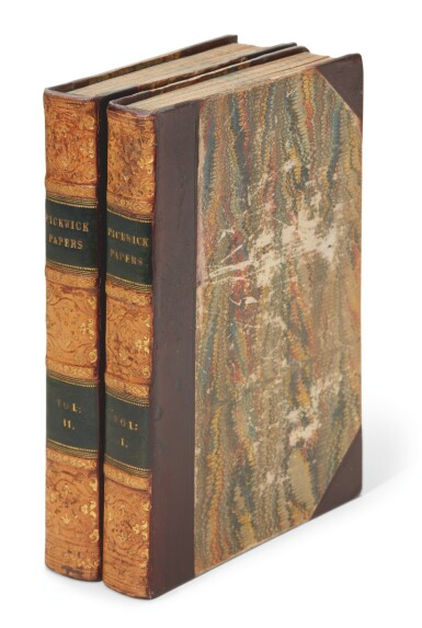 Dickens, The Posthumous Papers of the Pickwick Club, 2 volumes, contemporary half calf, 1837