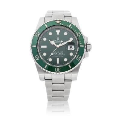 View 1. Thumbnail of Lot 406. 'Hulk' Submariner, Ref. 116610LV Stainless steel wristwatch with date and bracelet Circa 2010 | 勞力士 116610LV型號「'Hulk' Submariner」精鋼鍊帶腕錶備日期顯示,年份約2010.