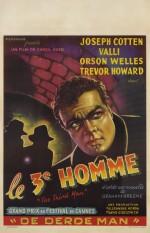 The Third Man / Le 3e Homme (1949) poster, Belgian