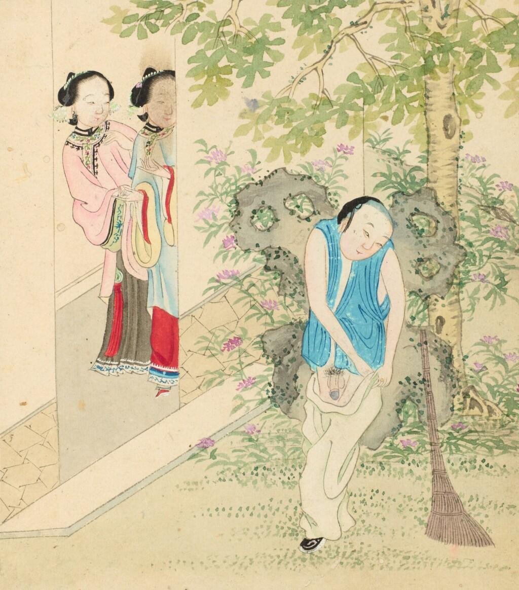 ENSEMBLE DE QUATRE ALBUMS DE PEINTURES ÉROTIQUES DYNASTIE QING, XIXE SIÈCLE | 清十九世紀 《春宮圖》 設色紙本 及 設色絹本 各兩冊   日本 《春宮圖》 設色紙本 一冊 | A group of four albums of erotic paintings, Qing Dynasty, 18th century
