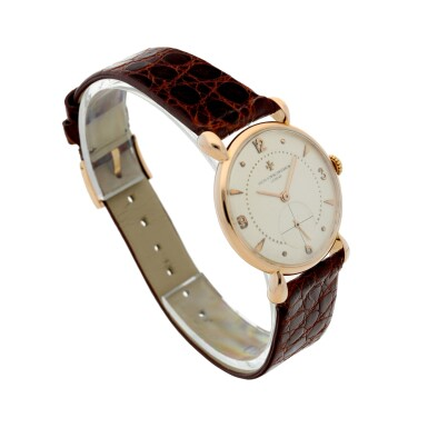 View 3. Thumbnail of Lot 291. REFERENCE 4299 A PINK GOLD WRISTWATCH, CIRCA 1955.