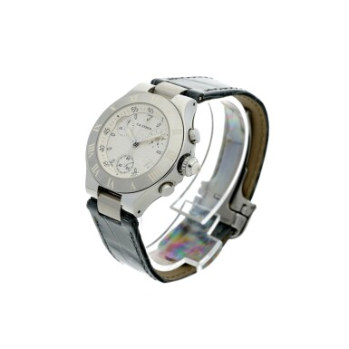 View 2. Thumbnail of Lot 8. REFERENCE 2996 CHRONOSCAPH 21 A STAINLESS STEEL CHRONOGRAPH WRISTWATCH WITH DATE, CIRCA 2005.