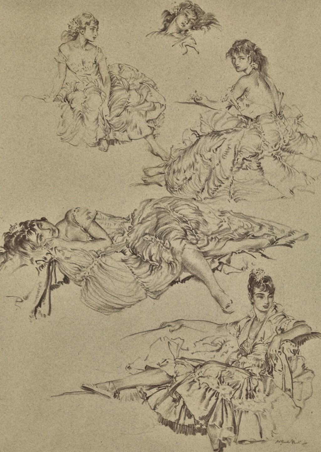 SIR WILLIAM RUSSELL FLINT, R.A., P.R.W.S. | STUDIES OF CECILIA