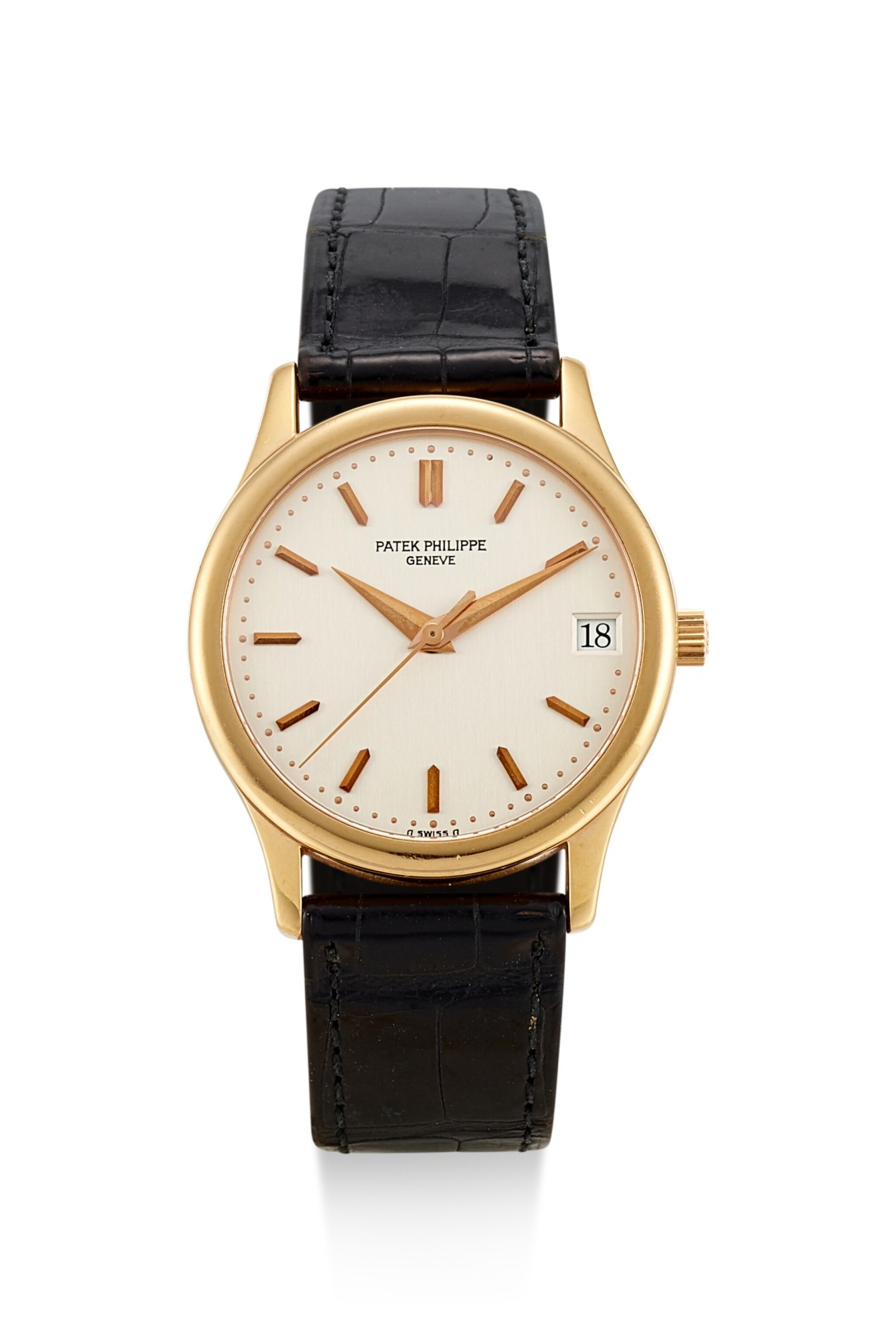 View full screen - View 1 of Lot 8061. PATEK PHILIPPE | CALATRAVA, REFERENCE 3998, A YELLOW GOLD WRISTWATCH WITH DATE, MADE IN 1996.