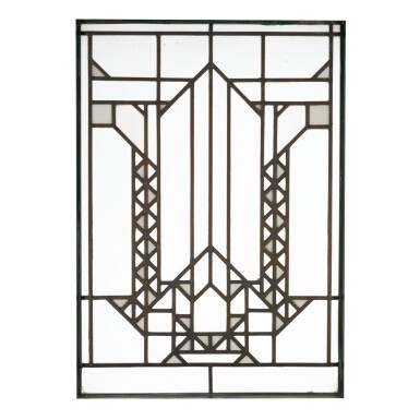 """View 1. Thumbnail of Lot 78.  FRANK LLOYD WRIGHT   WINDOW FROM THE FRANCIS W. LITTLE HOUSE, """"NORTHOME,"""" WAYZATA, MINNESOTA."""