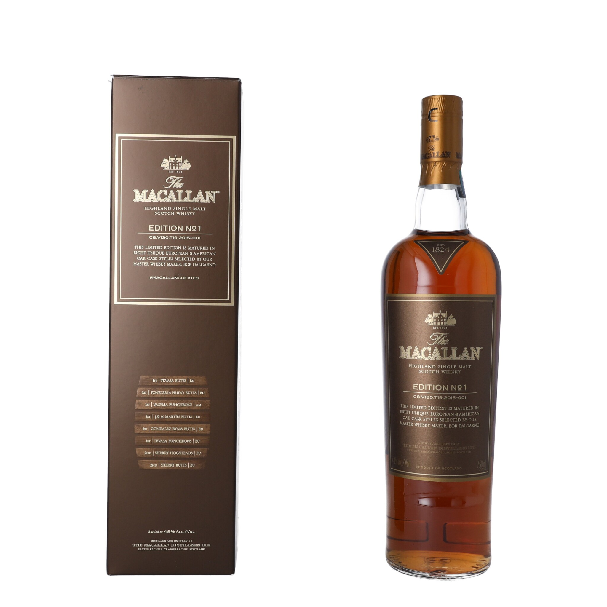 View full screen - View 1 of Lot 47. The Macallan Edition No.1 48.0 abv NV (1 BT75).
