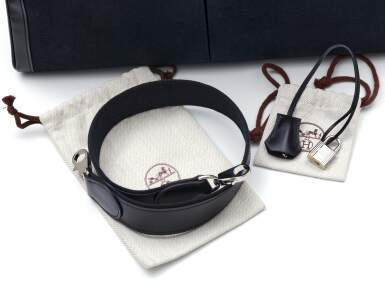 View 8. Thumbnail of Lot 332. Black Kelly Lakis 40cm in Toile and Box Leather with Palladium Hardware, 2008.