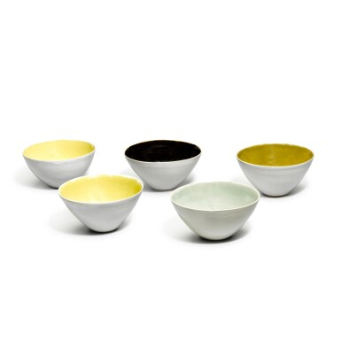 View 1. Thumbnail of Lot 82. DAME LUCIE RIE   FIVE BOWLS.