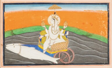 View 3. Thumbnail of Lot 39. RAJASTHAN AND NORTHERN INDIA, LATE 18TH CENTURY - EARLY 19TH CENTURY | SIX INDIAN MINIATURES .