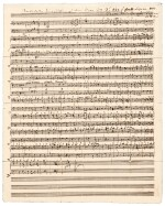 "C.M v Weber, autograph manuscript of a chorus from his final opera, ""Oberon"", 1826"